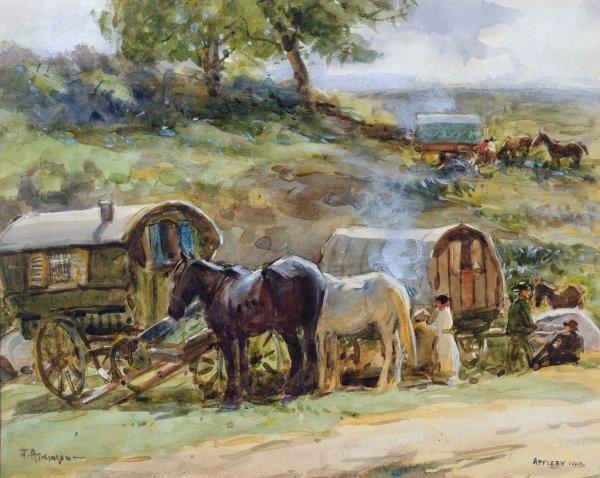 Gypsy Encampment at Appleby by John Atkinson