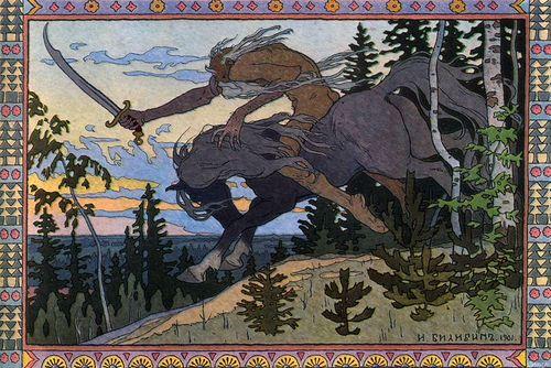 Koshchei the Deathless by Iavan Bilibin