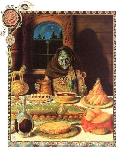 Illustration from Baba Yaga and Vasilisa the Brave by Kinuko Y. Craft