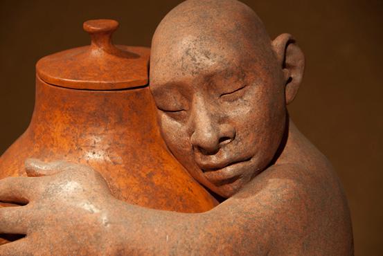 Bill's Urn by Roxanne Swentzell