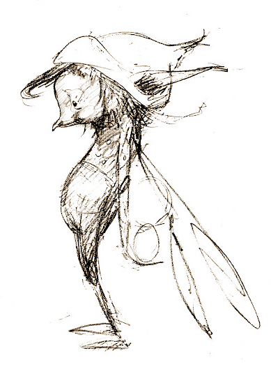 Pixie sketch by Brian Froud