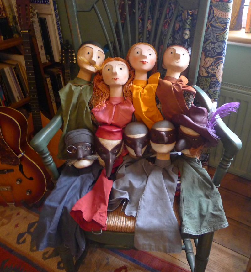 Commedia puppets