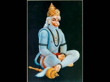 Hanuman Prays